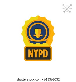 Golden NYPD Badge icon
