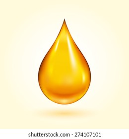 Golden Oil Drop