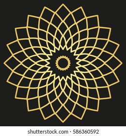 Golden ornament mandala for business, printing, decoration
