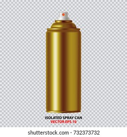 Golden Paint Aerosol Spray Metal Bottle Can, Graffiti, Deodorant, Household Chemicals, Poison.