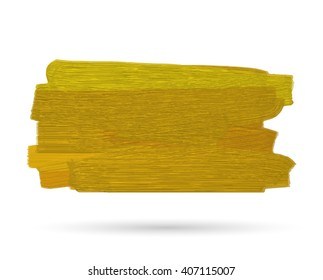 Golden paint stain.Vector gold paint stroke.