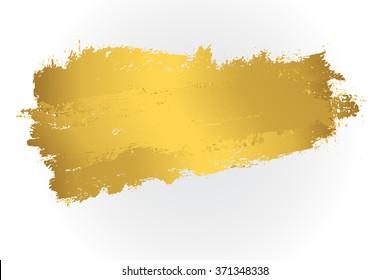 Golden paint stain.Vector golden stain.