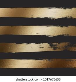 Golden Paint Strokes On Black Background