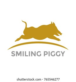 Golden Pig logo vector design