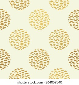 golden polka dot seamless pattern