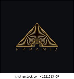 Golden pyramid logo