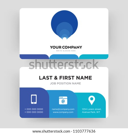 Golden ratio business card design template stock vector royalty golden ratio business card design template visiting for your company modern creative and colourmoves
