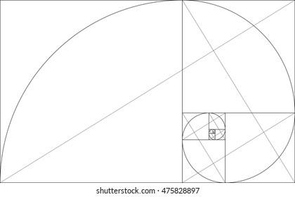 Golden Ratio graph. Vector Illustration