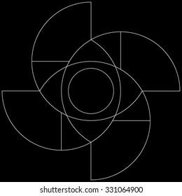 Golden ratio pattern