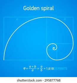 Golden ratio spiral with scheme