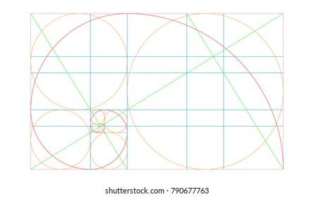 Golden ratio Template Vector Design.