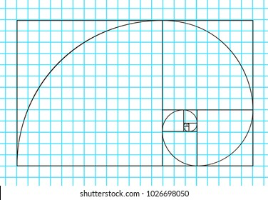 Golden ratio template vector, Divine Proportions, Golden Proportion. Universal meanings