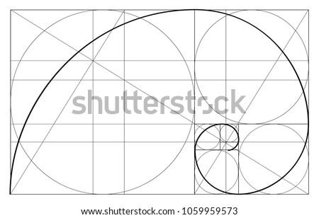 golden ratio template vector divine proportions stock vector