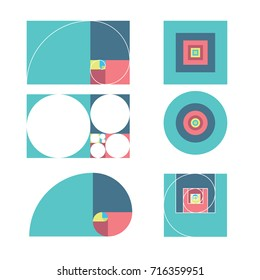 golden ratio template vector illustration fibonacci