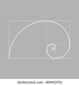 Golden ratio vector. Golden proportion. Golden section design element.  Golden ratio background.
