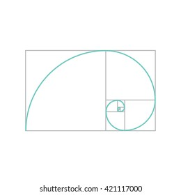 Golden ratio vector. Proportion symbol. Graphic Design element. Golden section spiral.