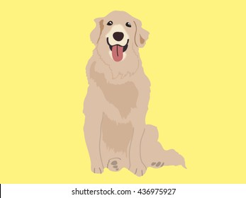 Golden retriever cartoon