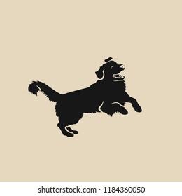 Golden Retriever dog - isolated vector illustration
