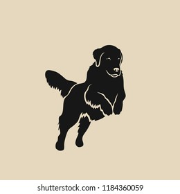 Golden Retriever Dog Silhouette Images Stock Photos Vectors Shutterstock Golden retriever silhouette by awesome shirts | spreadshirt. https www shutterstock com image vector golden retriever dog isolated vector illustration 1184360059