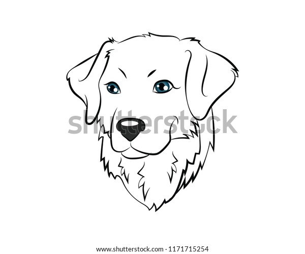 Golden Retriever Coloring Pages - Best Coloring Pages For Kids | 500x600