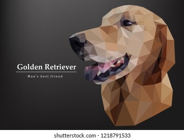 Golden retriever Triangle dog,Polygon dog symbol