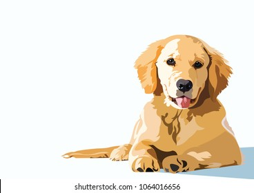 Golden Retriever Vector art background