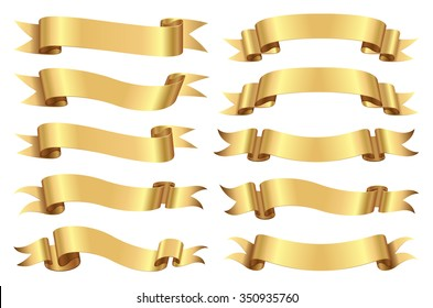 Golden ribbon set.