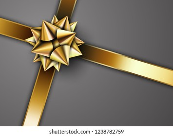 Golden ribbon with star
