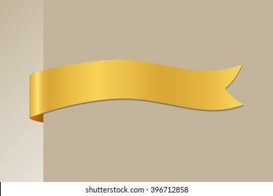 Golden Ribbon - Vector Design Element
