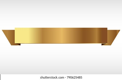 golden ribbons vector.