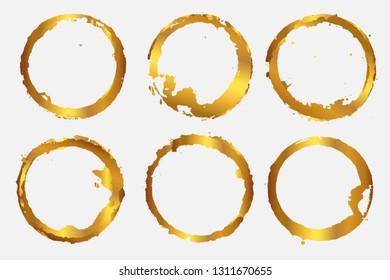Golden round shapes