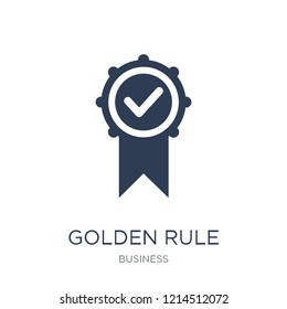 Golden rule icon. Trendy flat vector Golden rule icon on white background from Business collection, vector illustration can be use for web and mobile, eps10