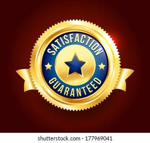Golden Satisfaction Guaranteed Badge