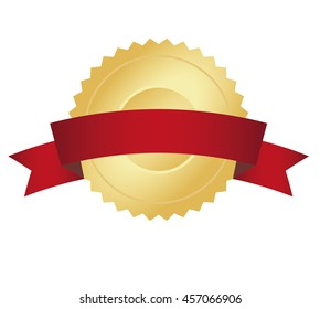 Golden seal with banner. Ready for your text.