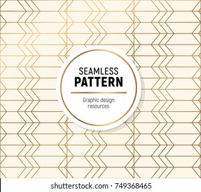 Golden seamless pattern on white background. Simple, but flashy background.