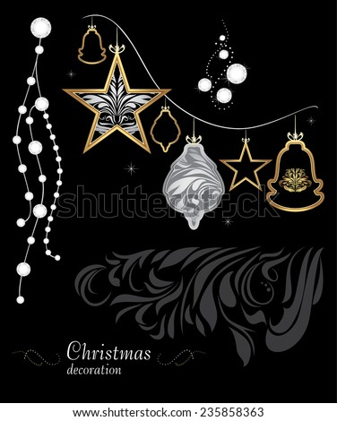 golden-silver-christmas-decoration-on-45