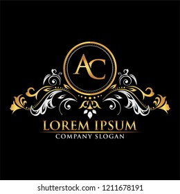 Golden and Silver Circle Ring Letter Logo. Professional logo and symbol for company with modern color.