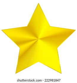 Golden star with conical gradient
