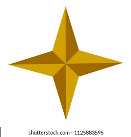 golden star - icon vector