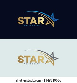 golden star logo icon
