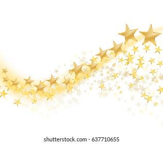 golden stars abstract background. vector illustration