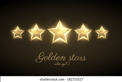 Golden stars.Vector eps10
