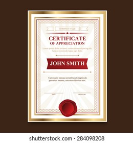 template certificate diploma congratulations fathers day stock