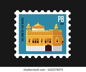 Golden Temple Stamp Amritsar India