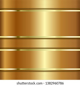Golden Textured Background With Copy Space. Metallic Texture.