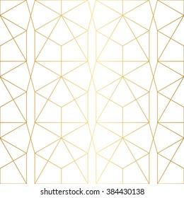 Golden texture.Seamless geometric pattern.