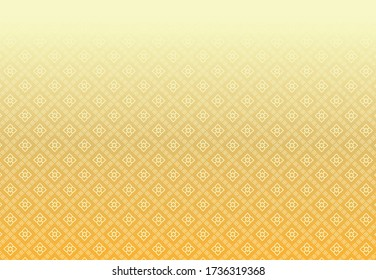 Golden Thai pattern on a white background, wall decoration pattern in Thai temples. vector illustration