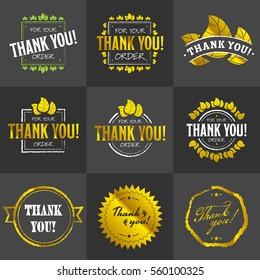 Golden Thank you badges