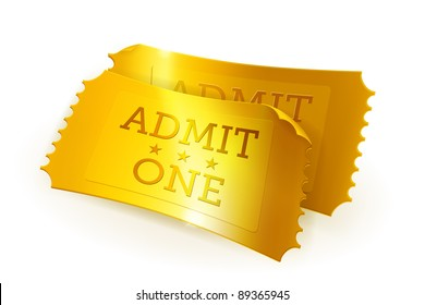 Golden tickets, vector