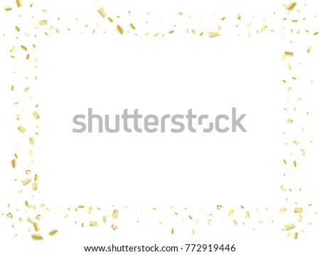 golden tinsel falling confetti christmas new year birthday party background winter creative